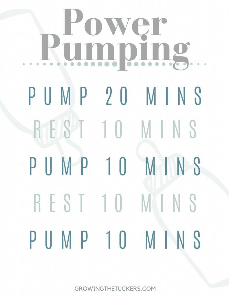 Power Pumping Schedule