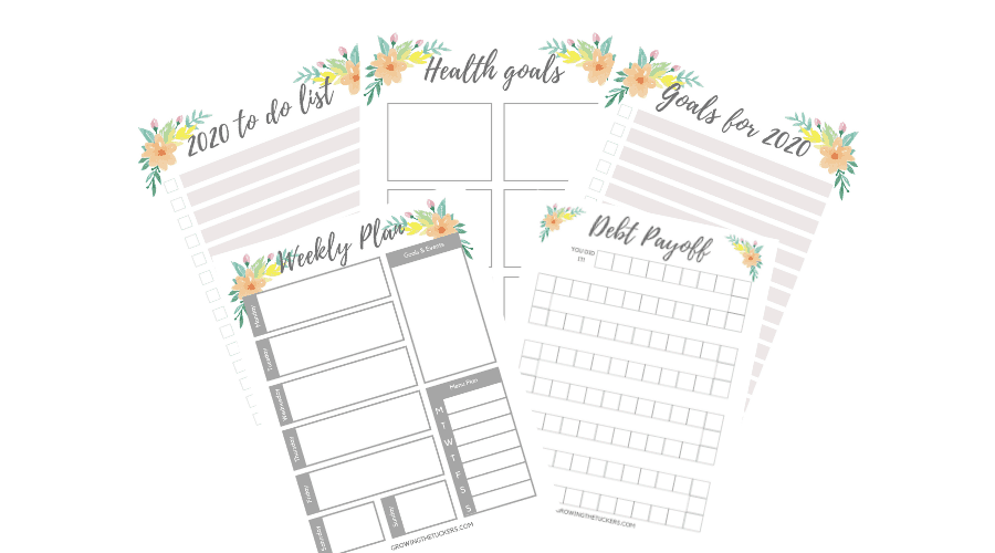 New Years planning printable
