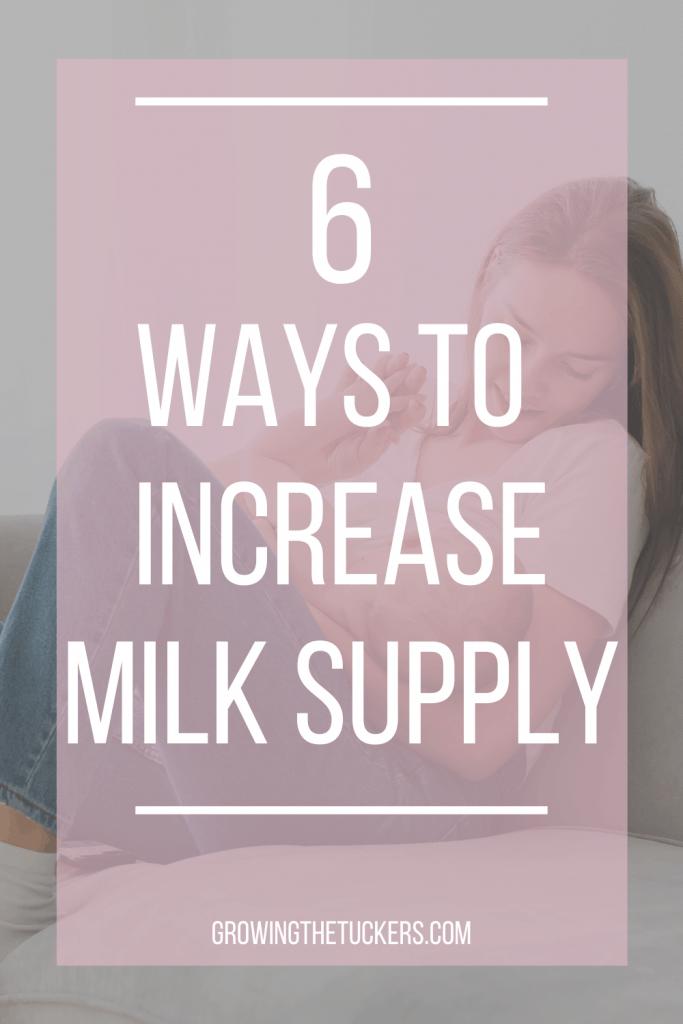 6 Ways to increase milk supply