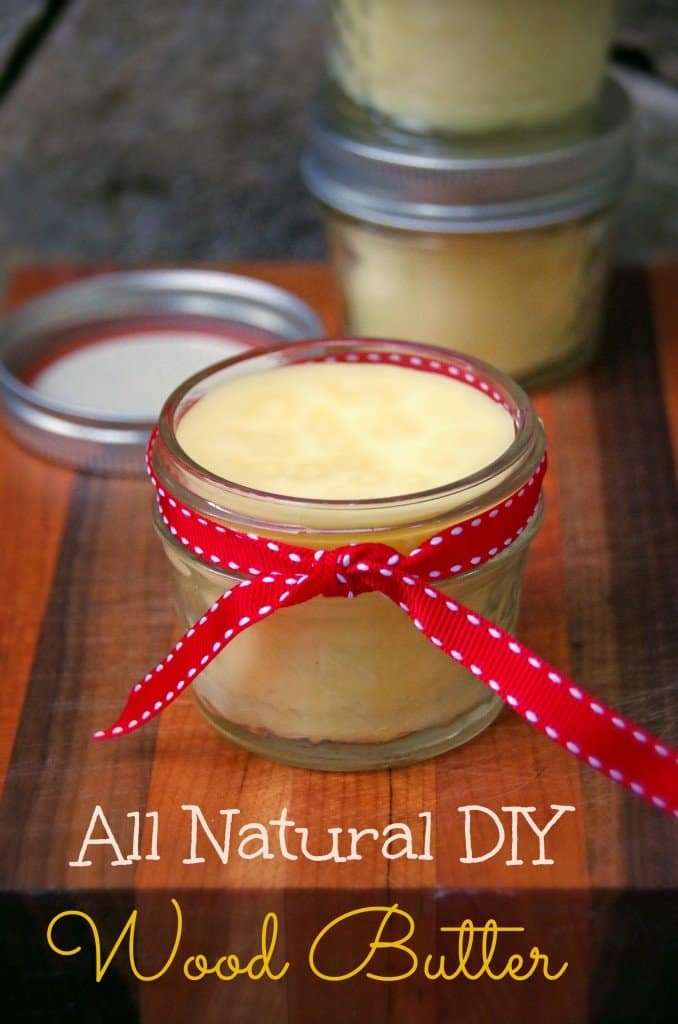 All Natural DIY Wood Butter