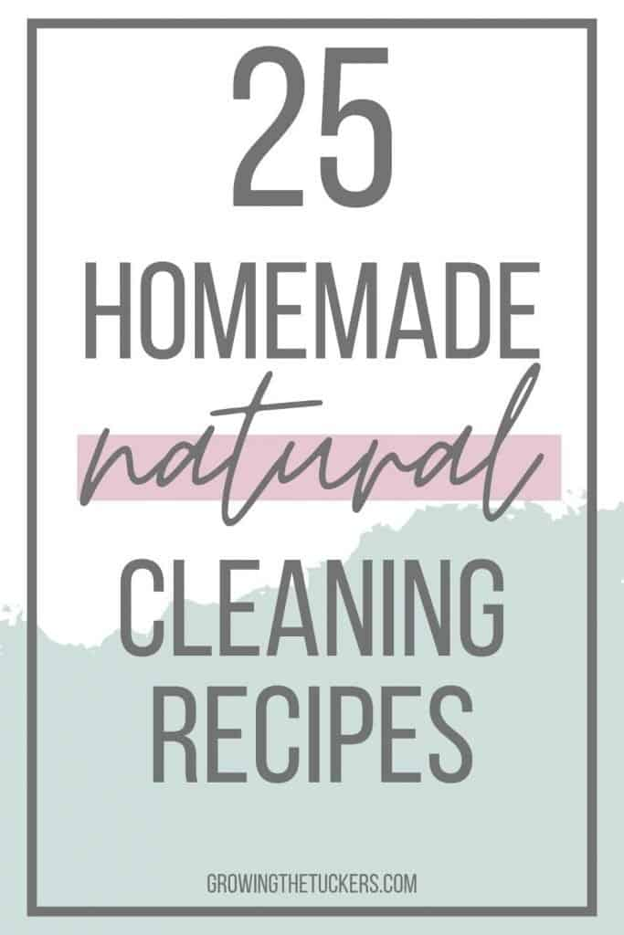 25 homemade natural cleaning recipes