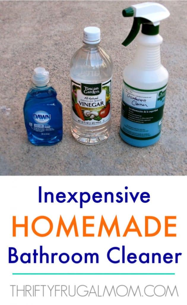 inexpensive homemade bathroom cleaner