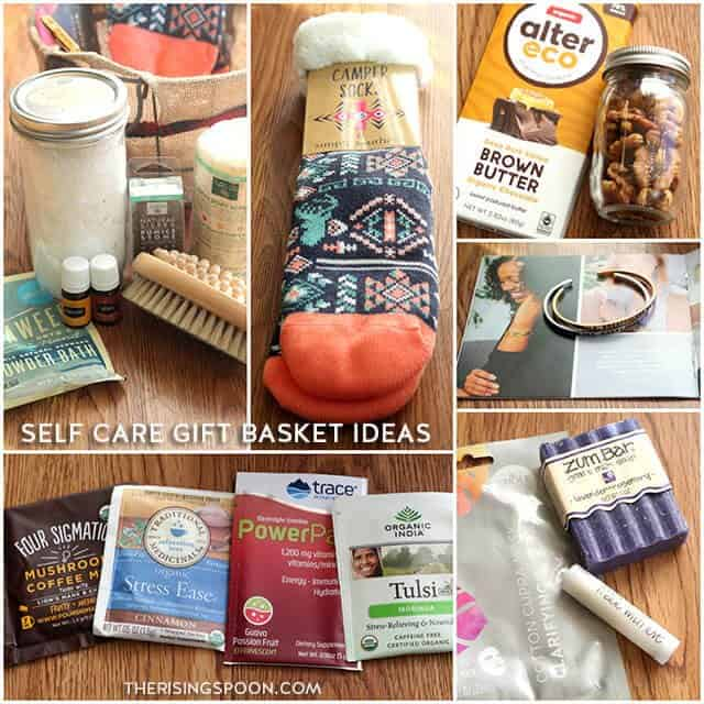 DIY self care basket by the rising spoon