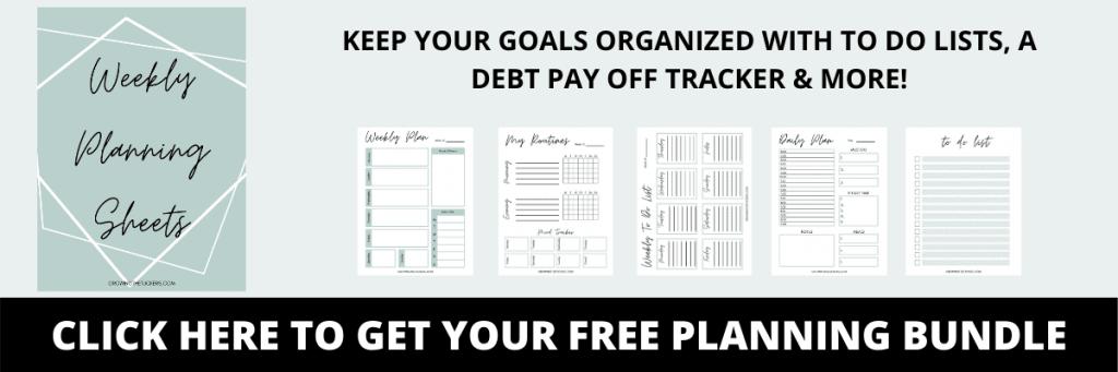 Free planning bundle clickable