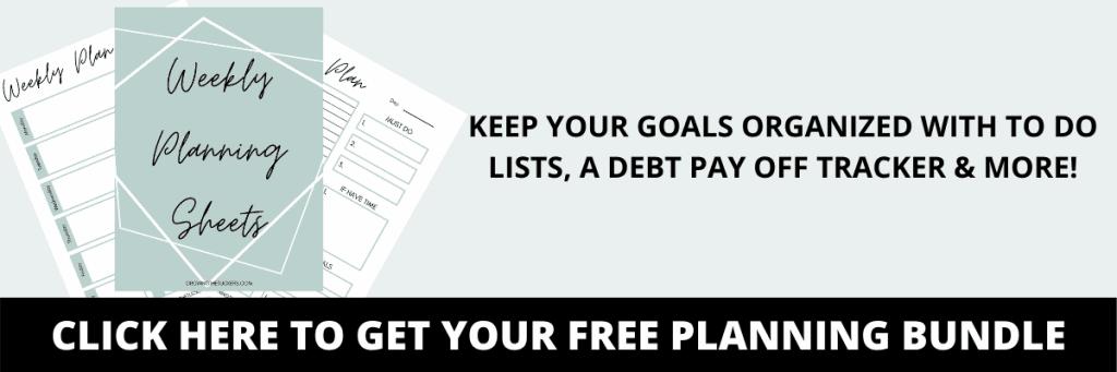 free planning bundle