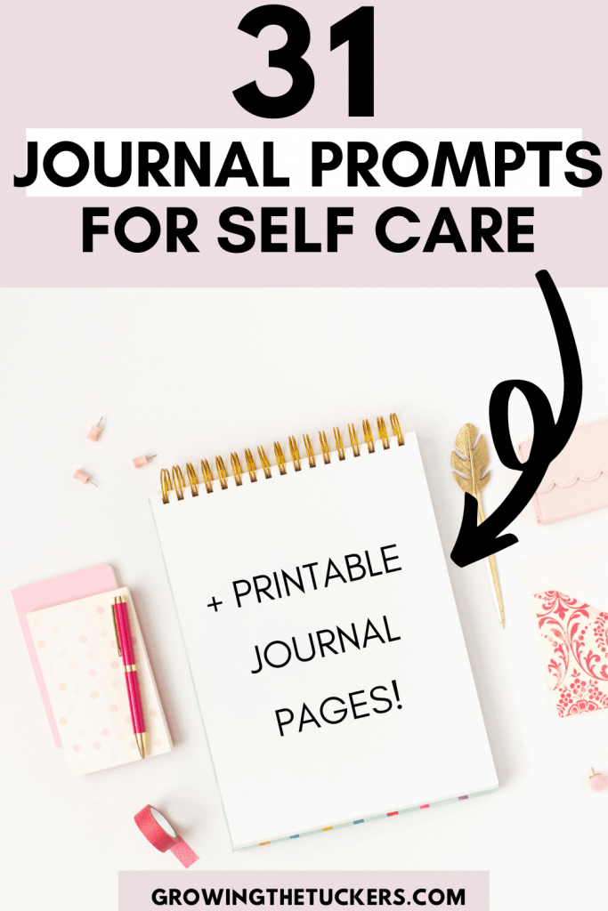31 Journal prompts for self care