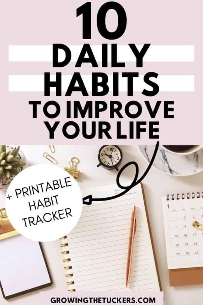 10 daily habits pin