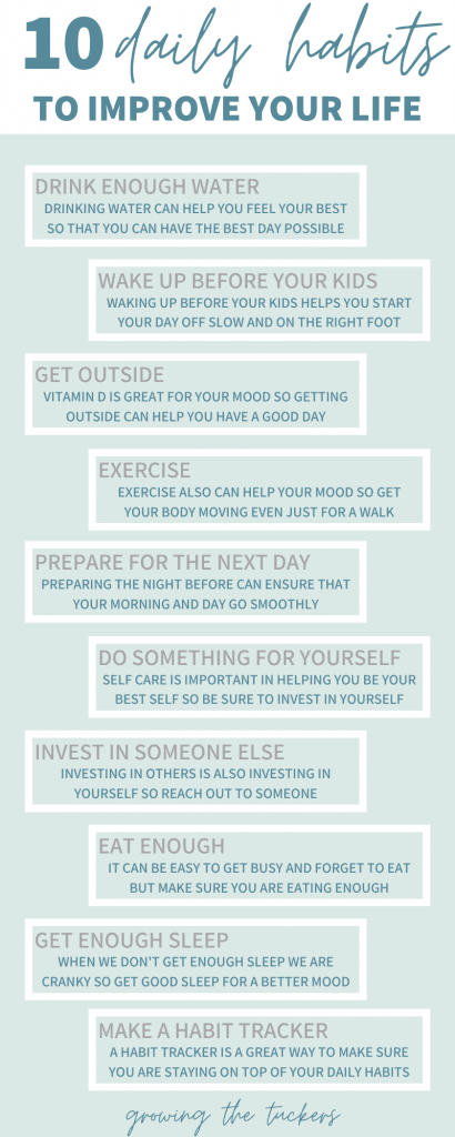 10 daily habits graphic