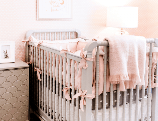 baby crib in a nursery