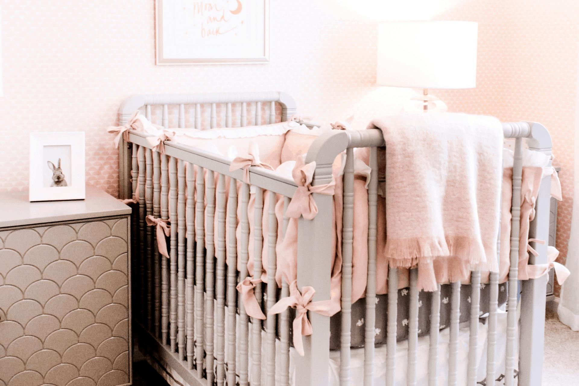 baby crib in a nursery