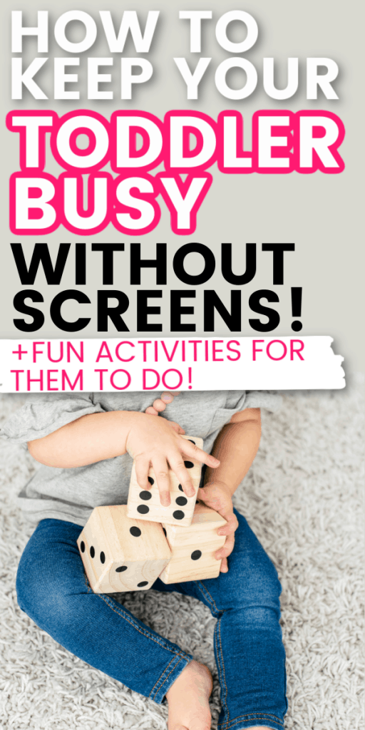 How to keep toddlers busy so you can get things done around the house