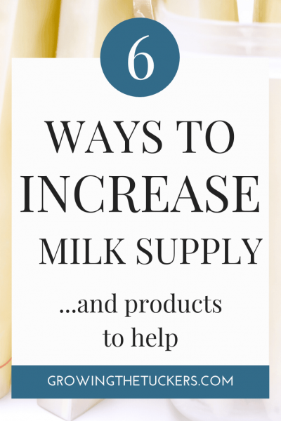 6 Ways to Increase Milk Supply